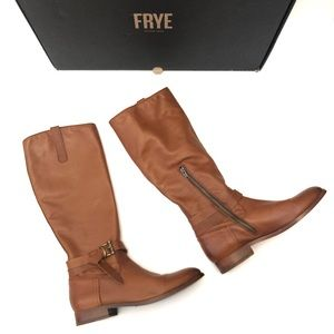 Frye Melissa knotted tall boots whiskey color